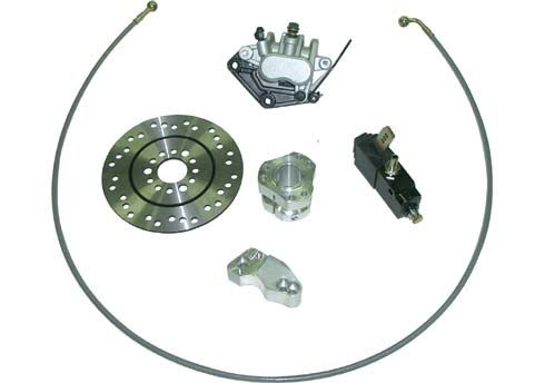 COMPLETE KIT FOR INDOOR BRAKE SYSTEM - 2 PISTONS