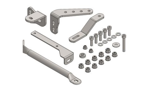 KIT SUPPORTS FOR RADIATOR AND EXHAUST DD2
