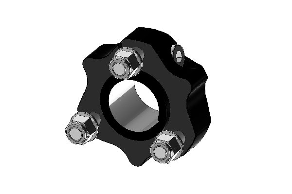 WHEEL HUB 30MM L=31MM EXTRA SHORT BLACK ANODIZED