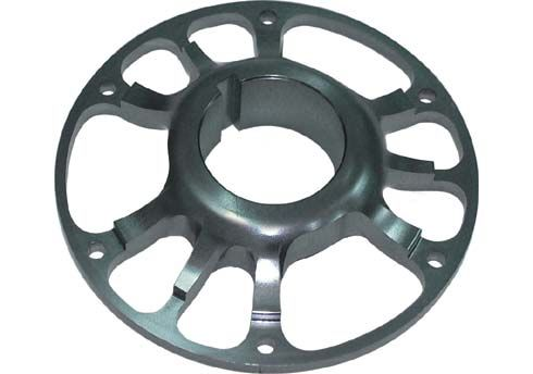 LIGHT SPROCKET CARRIER 50MM WITH BOLT AND WASHER - BLACK