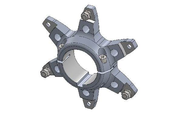 SPROCKET CARRIER 50MM H.Q. WITH BOLT AND WASHER - BLACK ANODIZED