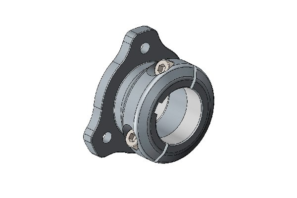 40MM DISC CARRIER FOR FLOATING ADAPTER 3 HOLE WITH BOLTS BLACK