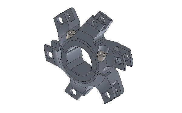 40MM H.Q. DISC CARRIER COMPLETE WITH BOLTS FOR 193MM BRAKE DISC - BLACK