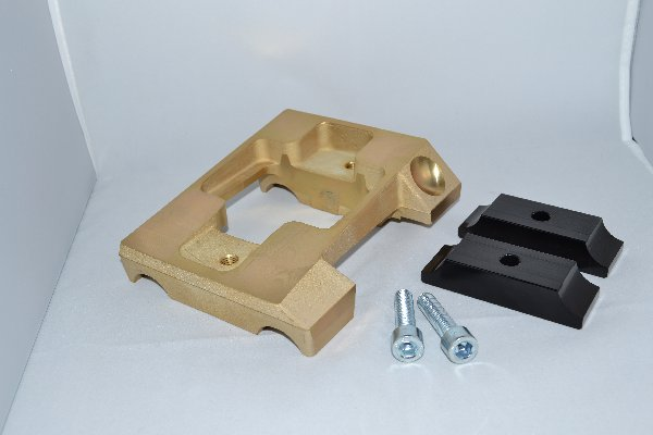 MAGNESIUM INCLINED ENGINE MOUNT FOR 30MM TUBE - WITHOUT HOLES - WITH BRACKETS