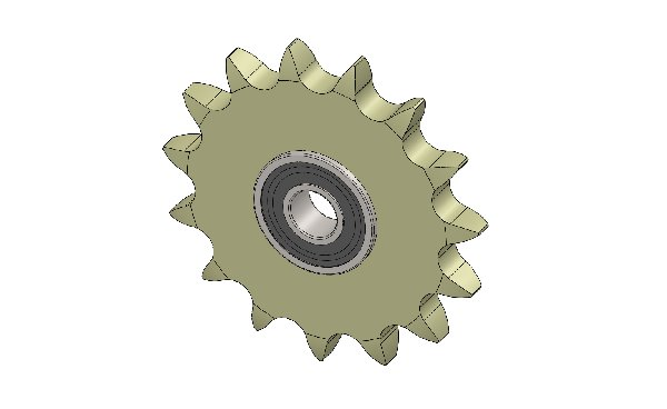 CHAIN TENSIONER ENGINE SPROCKET WITH BEARING